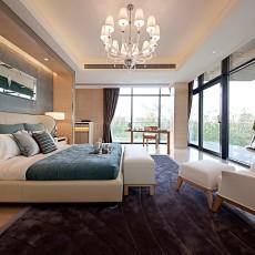 2018面积138平别墅卧室现代装修设计效果图片大全