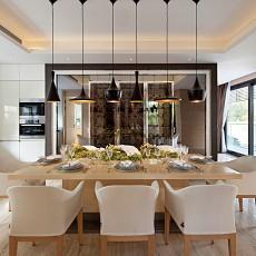 2018精选面积126平别墅餐厅现代效果图片欣赏