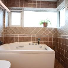 美式小户型卫生间装修实景图片欣赏