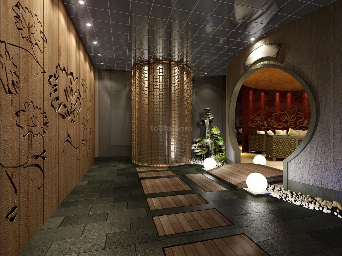 中式酒店包间装修效果图