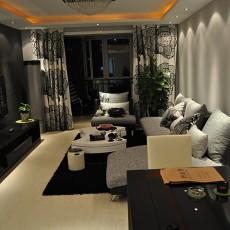 精选大小96平现代三居客厅装修实景图片欣赏