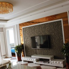 104平米三居客厅欧式装修图片