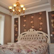 精选91平米三居卧室欧式装修实景图