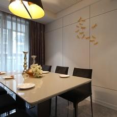 热门93平方三居餐厅现代装饰图
