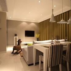 热门面积78平现代二居客厅欣赏图片