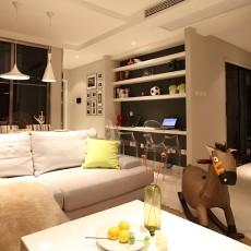 热门83平米二居客厅现代装饰图片大全