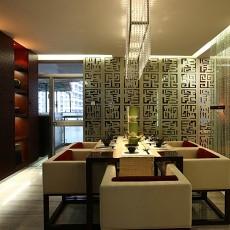 2018精选88平米二居餐厅中式装修欣赏图