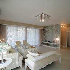 精美面积77平欧式二居客厅装饰图片
