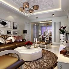 面积129平欧式四居客厅效果图