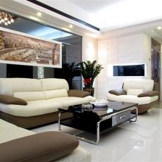 面积72平现代二居客厅装修实景图片大全