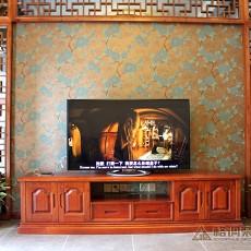 2018面积125平中式四居客厅装修设计效果图片欣赏