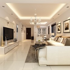 热门73平方二居客厅现代效果图片欣赏