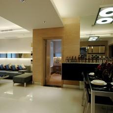 热门88平米现代小户型过道装修设计效果图片欣赏