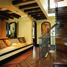 精选面积134平别墅过道美式装修设计效果图片大全