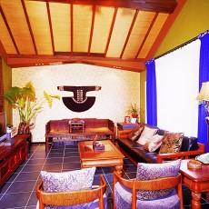 精美东南亚三居客厅装修设计效果图