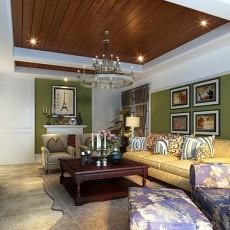 201886平方二居客厅美式设计效果图