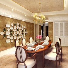 精选美式二居餐厅装修设计效果图片大全