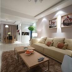 热门76平米二居客厅现代效果图片欣赏