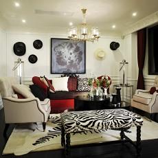 精选101平米三居客厅欧式装修效果图片欣赏