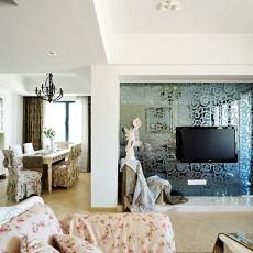 精美面积82平田园二居客厅效果图片欣赏