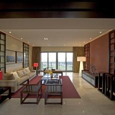 中式大客厅装修效果图