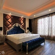 欧式主卧室窗帘装修效果图大全