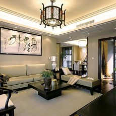 热门一居客厅中式设计效果图