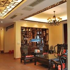 面积90平中式二居客厅欣赏图片