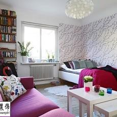 热门74平米北欧小户型书房装饰图片大全