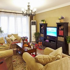 2018面积83平美式二居客厅装修图片欣赏