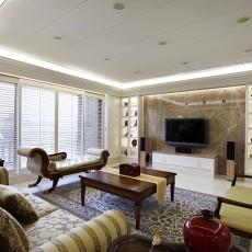 面积85平美式二居客厅装修欣赏图片