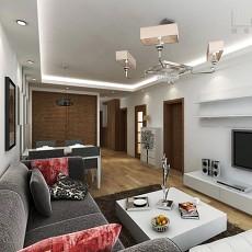 热门143平米四居客厅现代效果图片大全