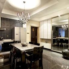 热门70平米二居餐厅现代装修效果图片大全