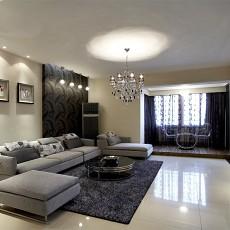 84平米二居客厅现代装修图