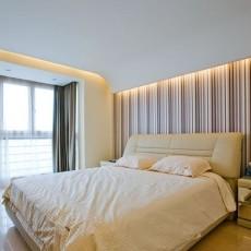 热门91平米三居卧室简约实景图片