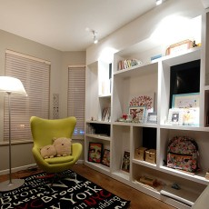精美大小108平现代三居书房装修实景图