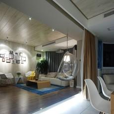 98平方三居客厅现代装修欣赏图片