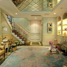 热门面积135平别墅客厅欧式装修欣赏图