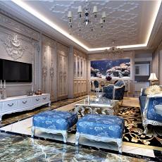 110平米四居客厅欧式装修设计效果图片