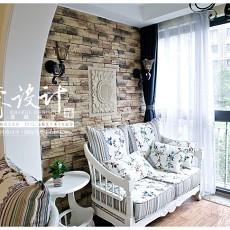欧式田园风格室内阳台装修图片