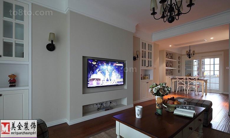 欧式客厅电视墙装修效果图大全2013图片
