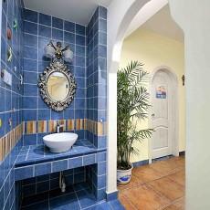 地中海风格小卫生间装修效果图片