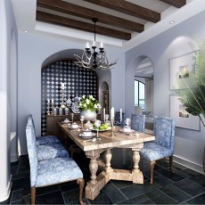 精美地中海一居餐厅装修效果图