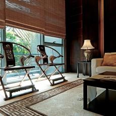 精美面积92平中式三居阳台装饰图片大全