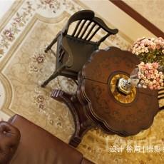 2018大小123平别墅客厅美式装修实景图
