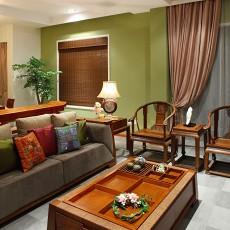 精选面积70平中式二居客厅装修效果图片欣赏