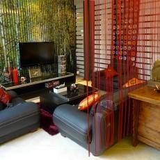 精美面积104平中式三居客厅装修效果图片欣赏