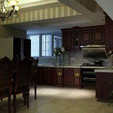 2018精选面积81平小户型厨房欧式装修效果图