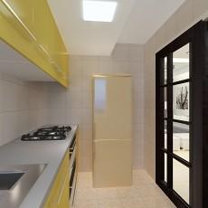 面积72平小户型厨房现代装修效果图片大全