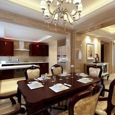 欧式别墅厨房餐厅装修效果图